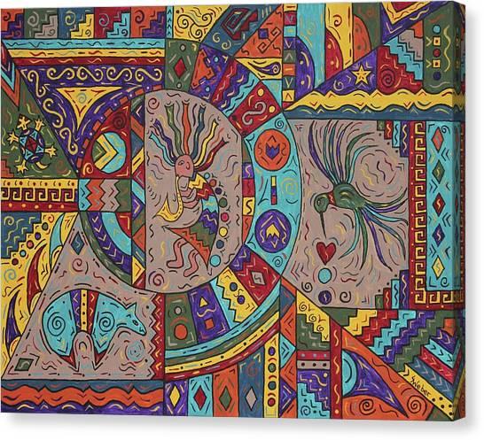 Kokopelli Mandala Canvas Print