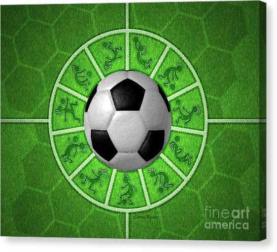 Soccer Players Canvas Print - Kokopelli Soccer by Chris Rhynas