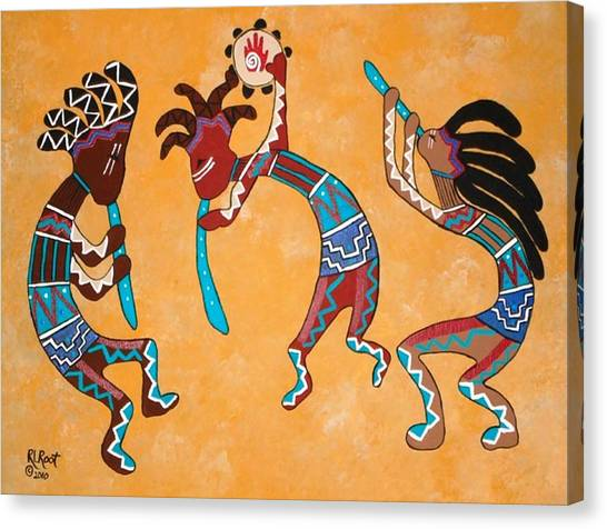 Kokopelli Trio Canvas Print