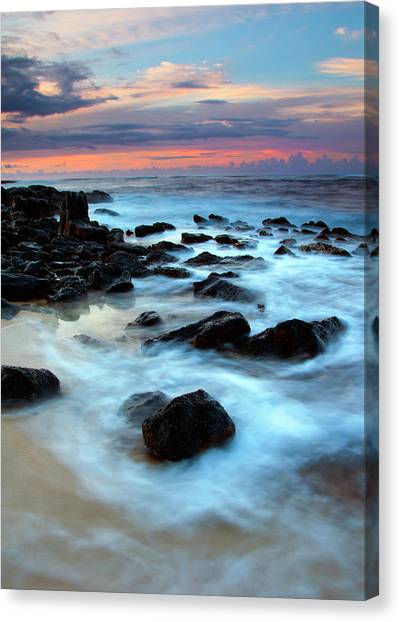 Lava Canvas Print - Koloa Dawn by Mike  Dawson