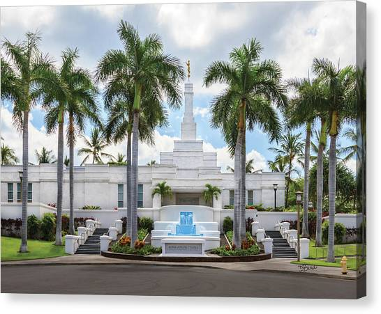 Kona Hawaii Temple-day Canvas Print