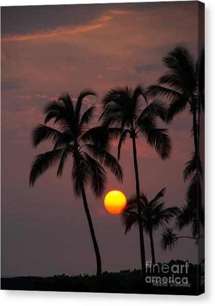 Kona Sunset #2 Canvas Print