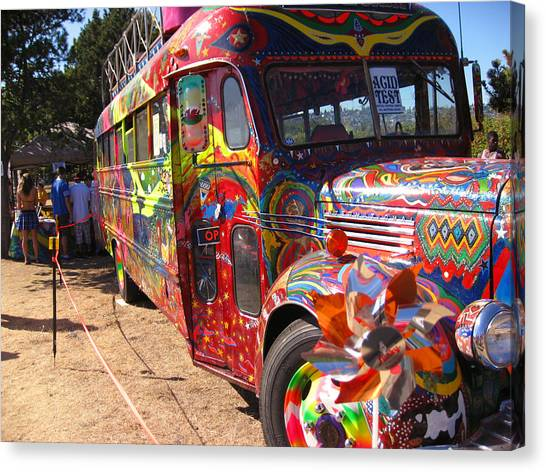 Kool Aid Acid Test Bus Canvas Print