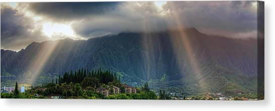 Koolau Sun Rays Canvas Print
