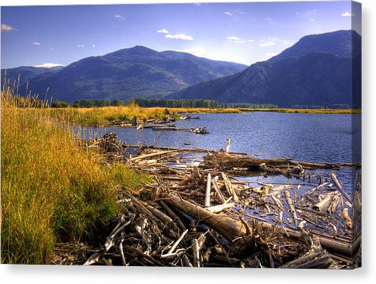 Kootenai Lake Bc Canvas Print