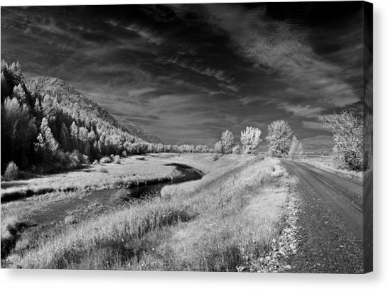 Kootenai Wildlife Refuge In Infrared 2 Canvas Print