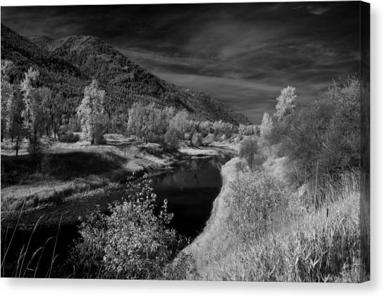 Kootenai Wildlife Refuge In Infrared 3 Canvas Print