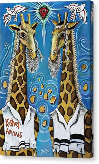 Kosher Animals Canvas Print