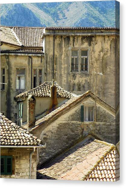 Kotor Rooftops Canvas Print