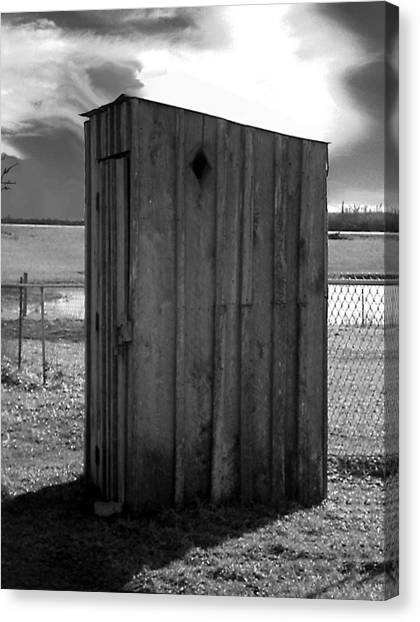 Koyl Cemetery Outhouse5 Canvas Print by Curtis J Neeley Jr