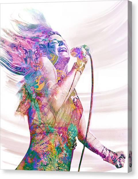 Janis Joplin Canvas Print - Kozmic Blues by Mal Bray