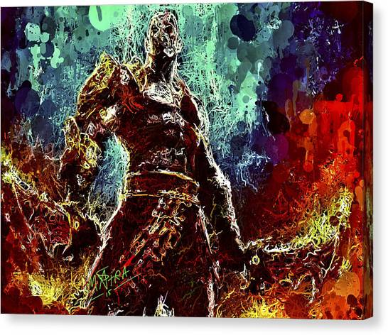 Kratos Canvas Print