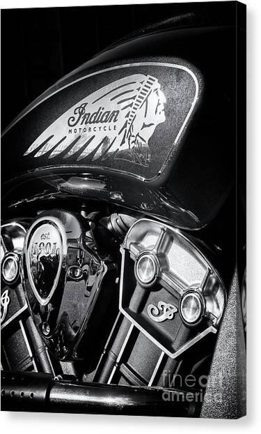 Scouting Canvas Print - Krazy Horse Monochrome by Tim Gainey