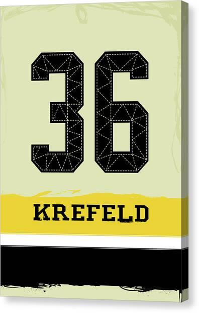 Hockey Canvas Print - Krefeld by Oldsports Hockey