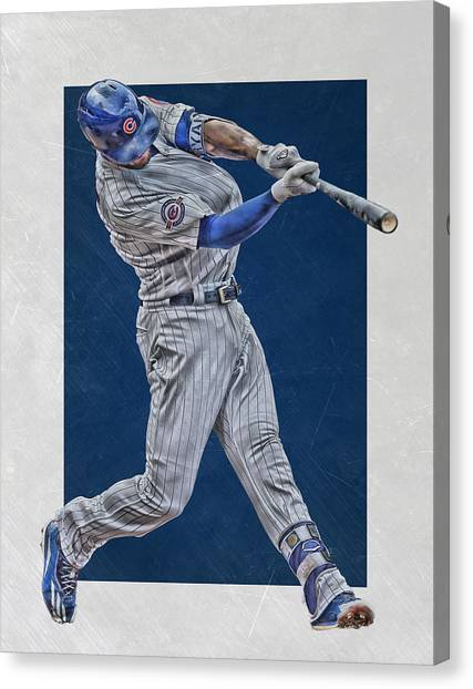 Chicago Cubs Canvas Print - Kris Bryant Chicago Cubs Art 4 by Joe Hamilton