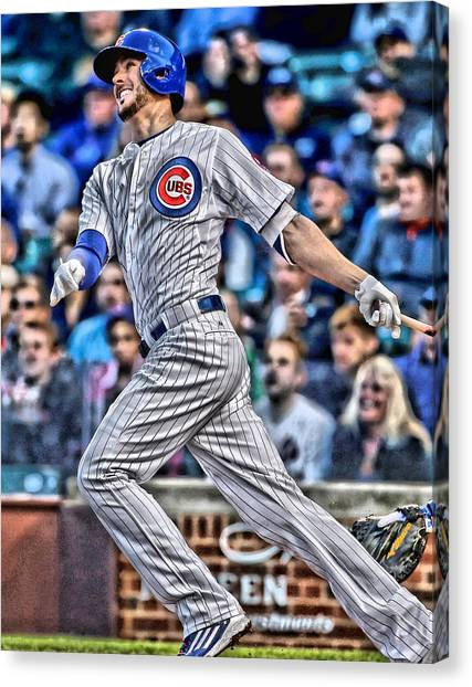 Baseball Teams Canvas Print - Kris Bryant Chicago Cubs by Joe Hamilton