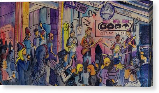 Kris Lager Band At The Goat Canvas Print