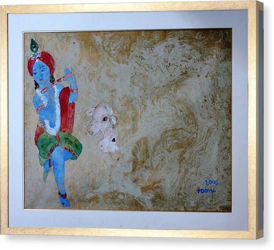Krishna Canvas Print by Rooma Mehra