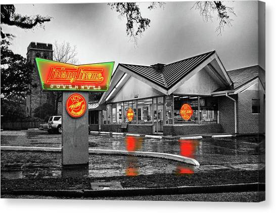 Canvas Print featuring the photograph Krispy Kreme by Michael Thomas