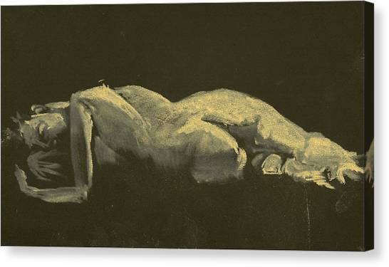 Kroki 2014 09 27_3figure Drawing White Chalk  Canvas Print