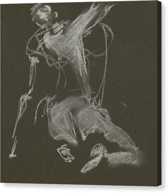 Kroki-2015-04-11-figure-drawing-white-chalk-marica-ohlsson-marica-ohlsson Canvas Print