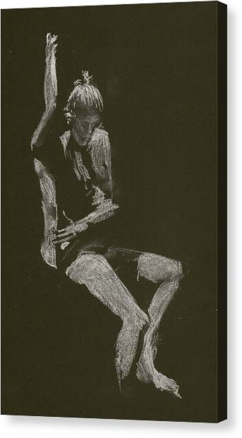 Kroki 2014 10 04_12 Figure Drawing White Chalk Canvas Print