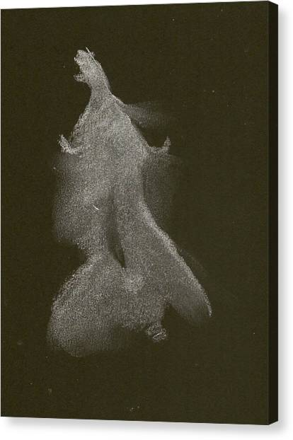 Kroki 2014 10 04_16 Figure Drawing White Chalk Canvas Print