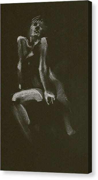 Kroki 2014 10 18_3 Figure Drawing White Chalk Canvas Print