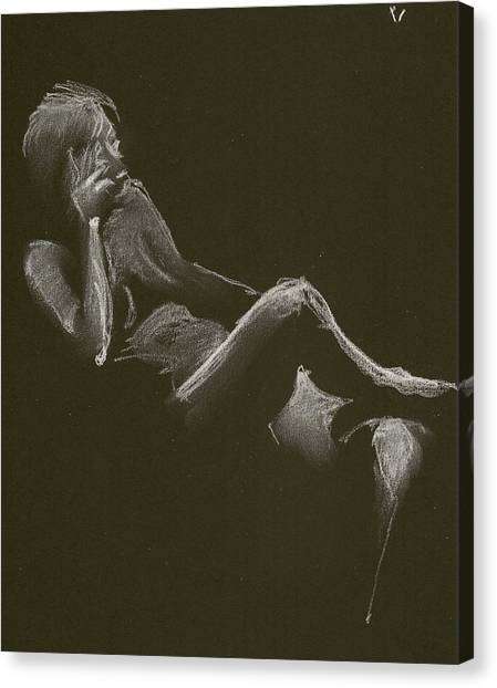 Kroki 2014 12 27_3 Figure Drawing White Chalk Canvas Print