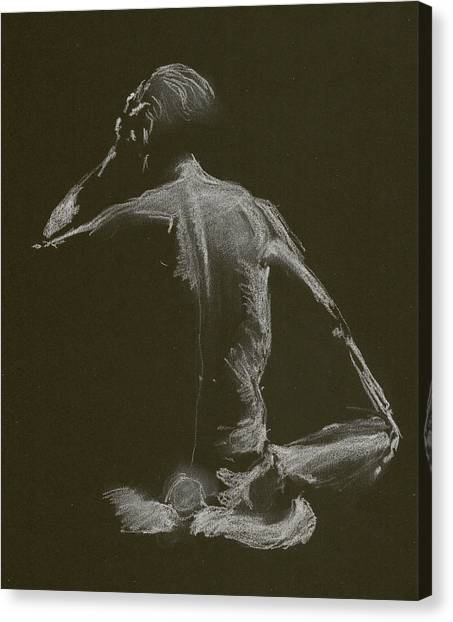 Kroki 2015 01 10_14 Figure Drawing White Chalk Canvas Print
