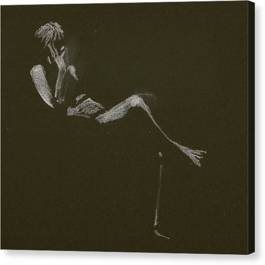 Kroki 2015 01 10_5 Figure Drawing White Chalk Canvas Print