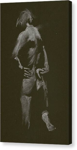 Kroki 2015 01 10_7 Figure Drawing White Chalk Canvas Print