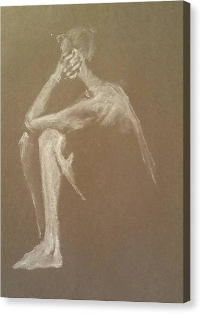 Kroki 2015 06 18_9 Figure Drawing White Chalk Canvas Print
