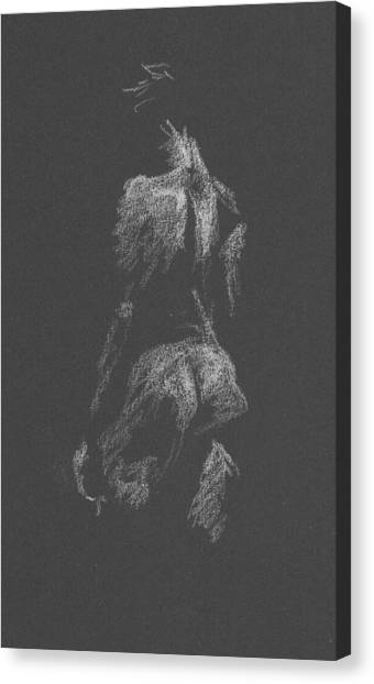 Kroki 2015 09 26 _3 Figure Drawing White Chalk Canvas Print