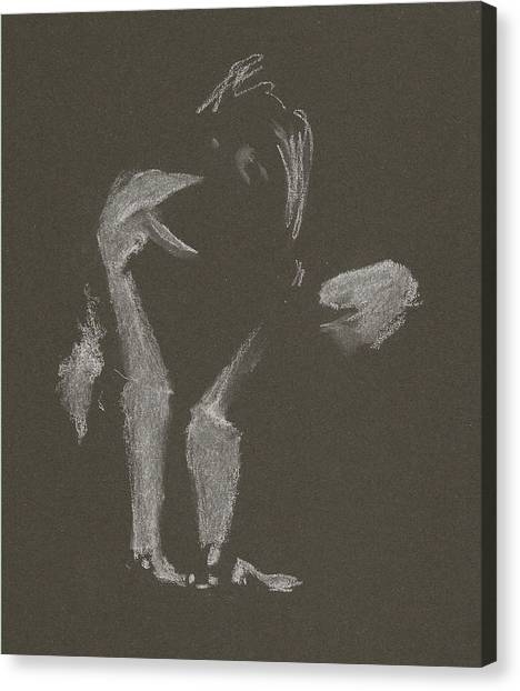 Kroki 2015 10 03_10 Figure Drawing White Chalk Canvas Print