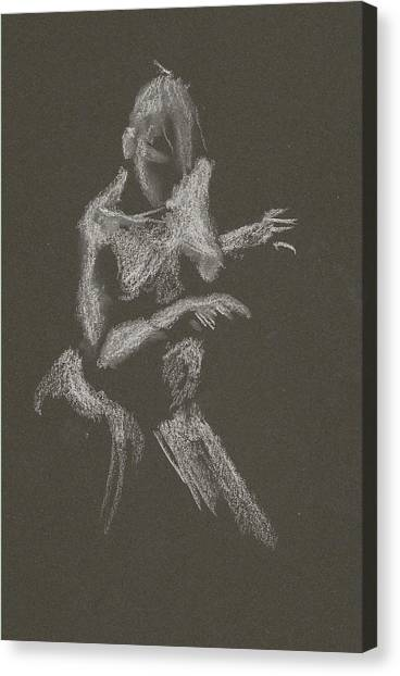 Kroki 2015 10 03_12 Figure Drawing White Chalk Canvas Print