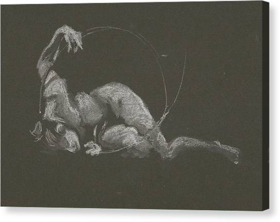 Kroki 2015 10 03_14b Figure Drawing White Chalk Canvas Print
