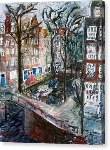 Kromboom Sloot Canvas Print by Joan De Bot