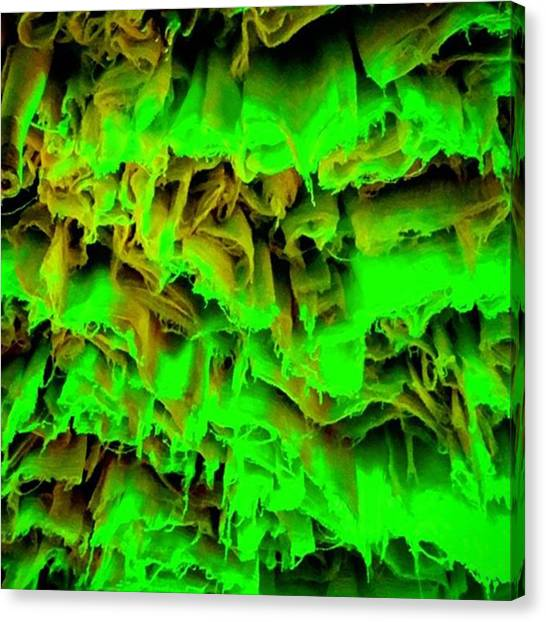 Installation Art Canvas Print - Krypton Light. #green #light by Matthew Gilbert
