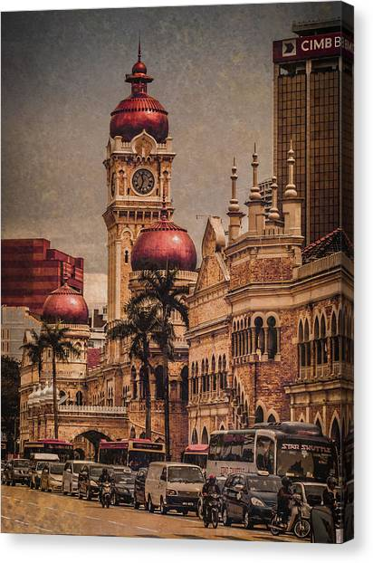 Kuala Lumpur, Malaysia - Red Onion Domes Canvas Print