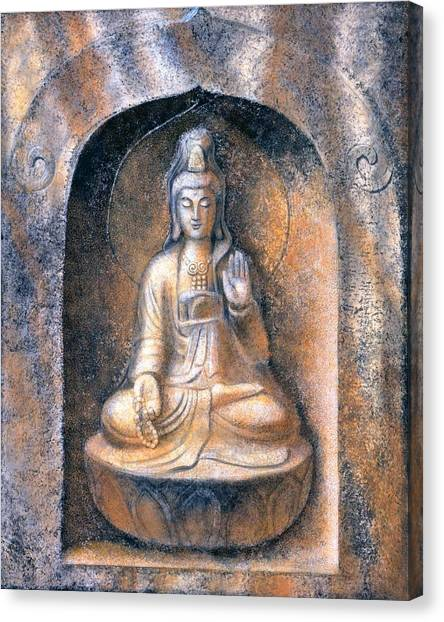 Buddha Canvas Print - Kuan Yin Meditating by Sue Halstenberg