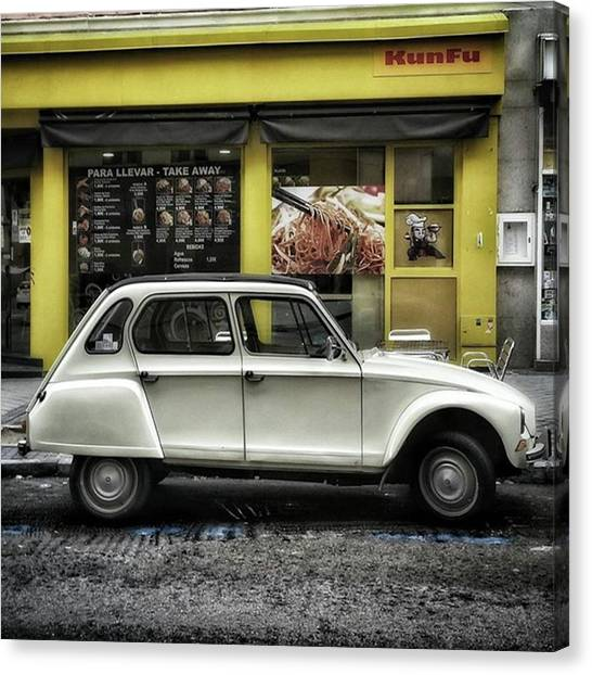 Madrid Canvas Print - Kunfu Car #2cv #dyane #dyane6 by Rafa Rivas