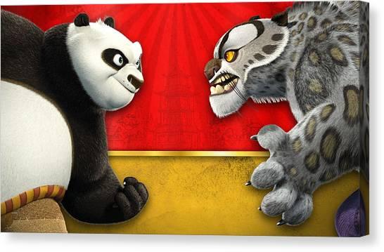 Kung Fu Canvas Print - Kung Fu Panda by Maye Loeser