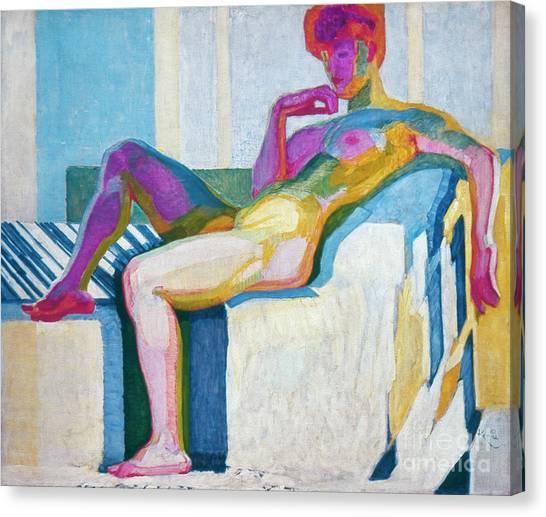 Aod Canvas Print - Kupka Planes Nude by Granger