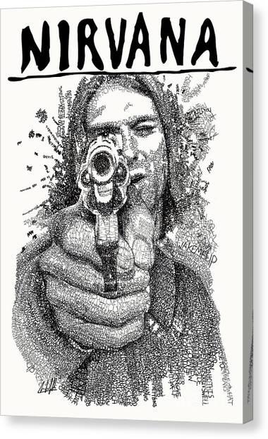 Kurt Cobain Canvas Print - Kurt Cobain by Michael Volpicelli