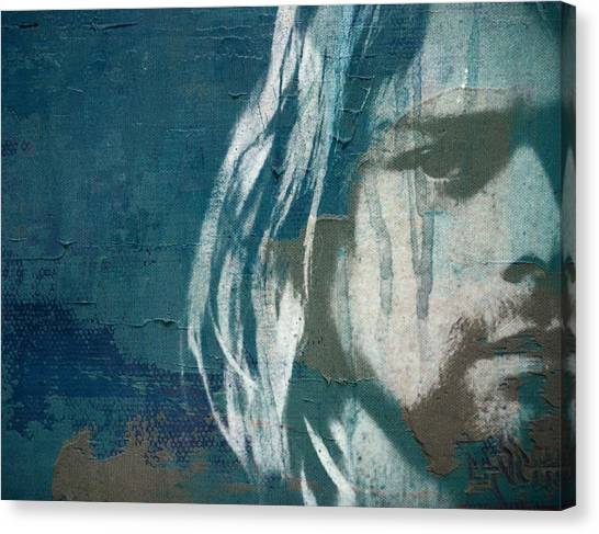 Concert Images Canvas Print - Kurt Cobain  by Paul Lovering