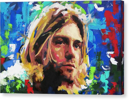 Street Fighter Canvas Print - Kurt Cobain by Richard Day