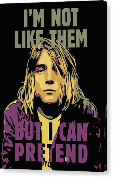 Kurt Cobain Canvas Print - Kurt Cobain by Greatom London