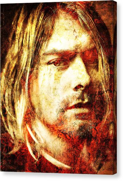 Nirvana Canvas Print - Kurt by J  - O   N    E