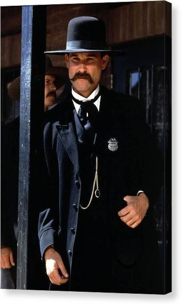 Kurt Russell As Wyatt Earp Tombstone Arizona 1993-2015 Canvas Print